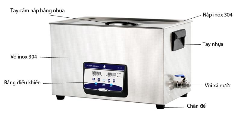Bể rửa siêu âm JP-100S