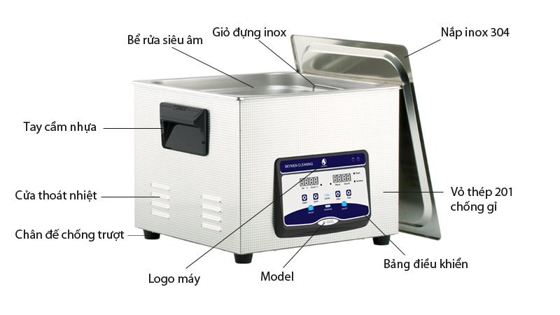 Giới thiệu Bể rửa siêu âm JP-060S