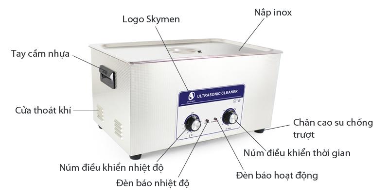 Giới thiệu Bể rửa siêu âm điều khiển cơ JP-080 22L