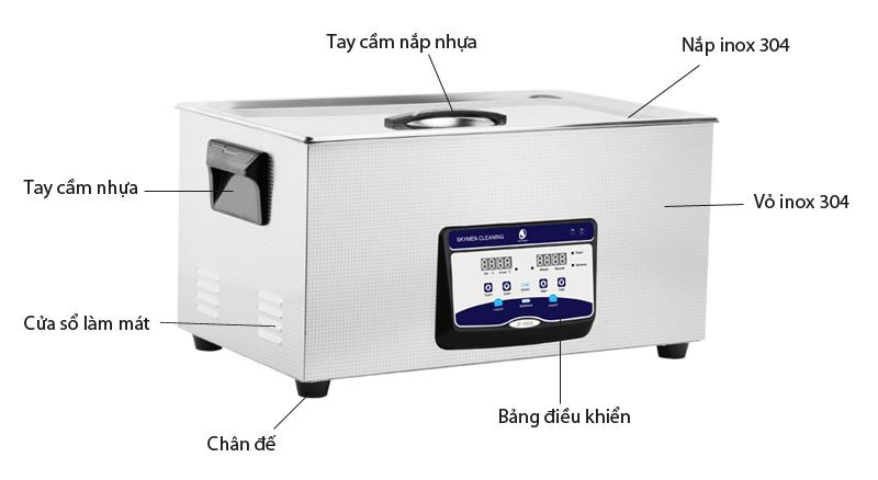 Giới thiệu Bể rửa siêu âm thông minh JP-080S