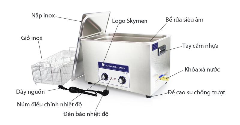 Bể rửa siêu âm điều khiển cơ JP-100 30L