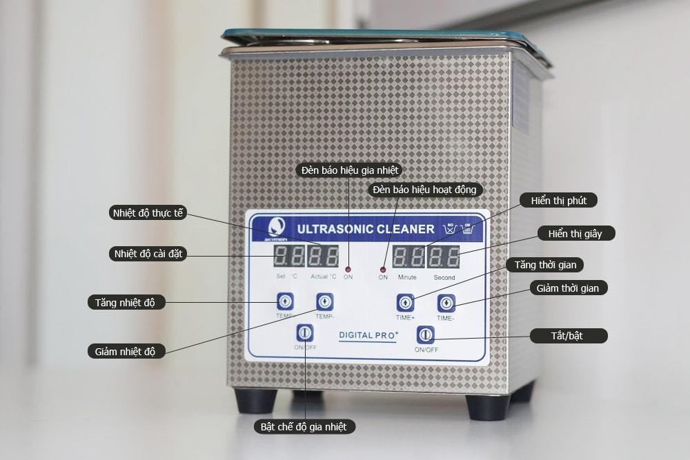 Hướng dẫn Bể rửa siêu âm điện tử JP-009
