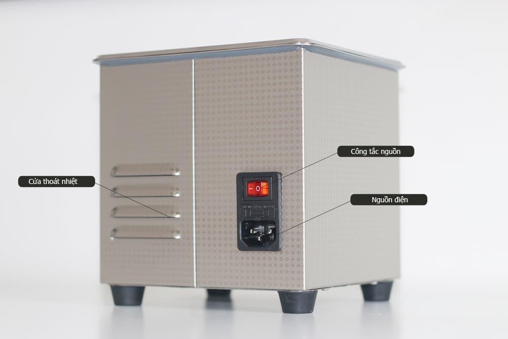 Mặt sau Bể rửa siêu âm điện tử JP-009